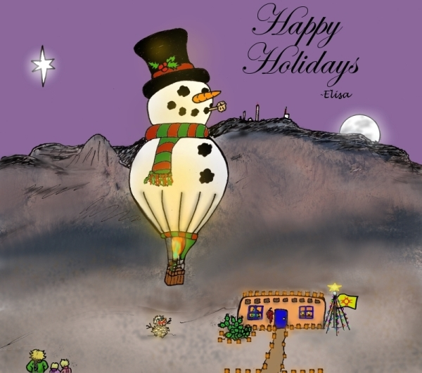 This Year's Holiday E-Card (©Elisa Grace Diehl 2012)