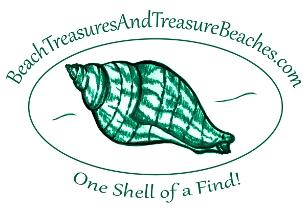 Beach Treasures and Treasure Beaches (logo art by me, logo text by Kristie McLin)