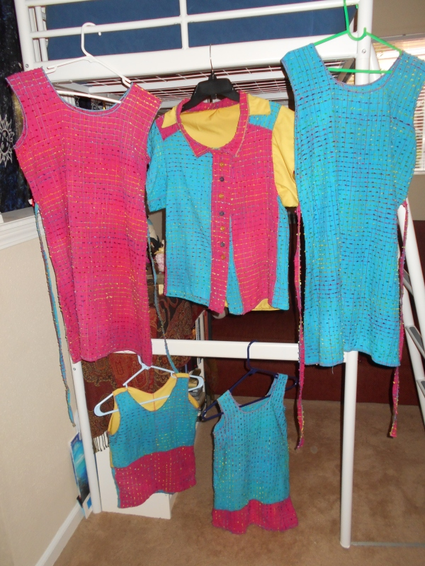 Still drying, but re-arranged!  (photo and clothes still by E.G.D.)