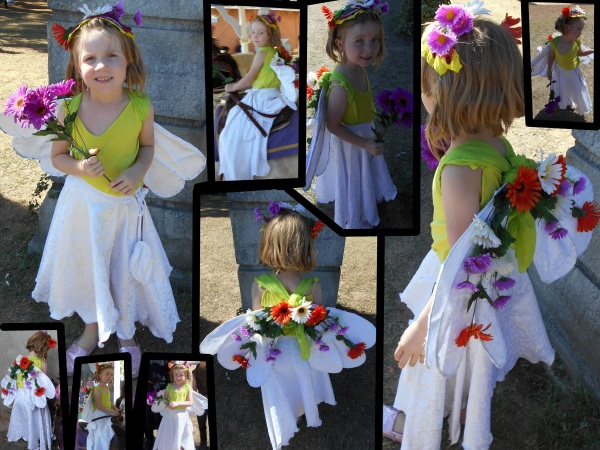 Daisy the Garden Faerie (on Oona). Costume design, construction, and photography by E.G.D.