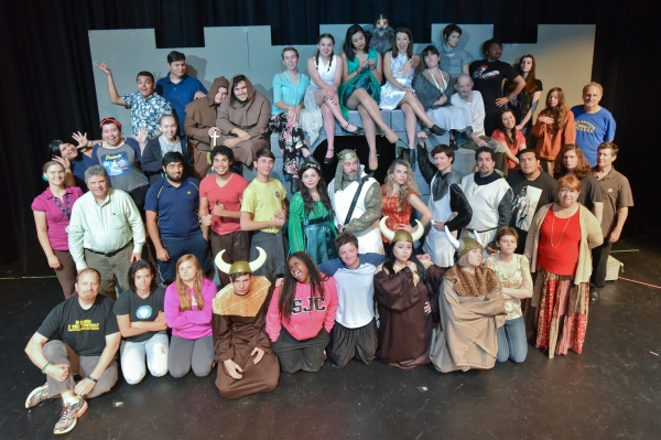 The cast and production staff of San Jacinto College Central's 2015 production of Spamalot